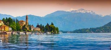 View of the city Mezzegra, Via Statale, Tremezzo CO, Alps, Italy Royalty Free Stock Image