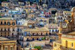 View of City of Modica from San Pietro Church Stock Photos