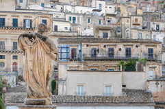View of City of Modica from San Pietro Church Royalty Free Stock Images