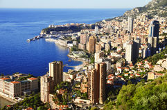View of the city of Monaco. French Riviera Royalty Free Stock Photos