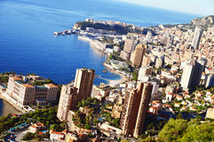 View of the city of Monaco. French Riviera Royalty Free Stock Photo