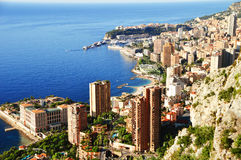 View of the city of Monaco. French Riviera Stock Photography