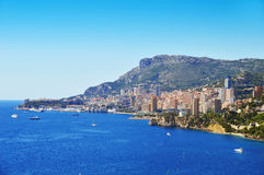 View of the city of Monaco. French Riviera Stock Photo