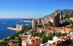 View of the city of Monaco. French Riviera Stock Image