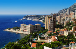 View of the city of Monaco. French Riviera Stock Images