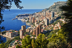 View of the city of Monaco. French Riviera.  Royalty Free Stock Photo