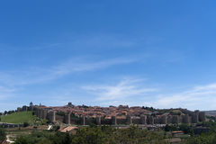 Monumental cities of Spain, Avila. View of the city of the monumental city of Ávila and its old defensive wall Royalty Free Stock Photography
