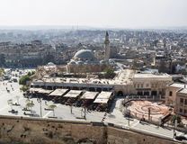 View of city and mosque in aleppo syria Stock Photos