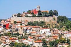 View of the city Motovun in Istria, Croatia.  stock photo