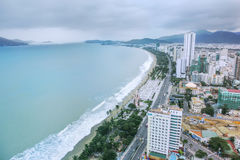 View of the city of Nha Trang, Vietnam. Stock Images