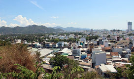 View of the city of Nha Trang in Vietnam. Photo from the observation deck of the city of Nha Trang stock photography