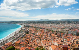 View of the city of Nice in France Royalty Free Stock Image