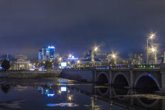 View the city at night Royalty Free Stock Photography