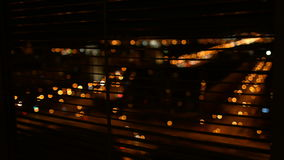 View the city at night stock footage