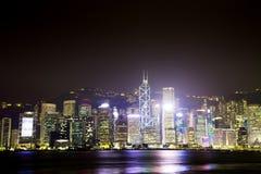 View the city at night from Kowloon. Hong Kong. Stock Photo