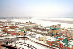 View on a city Nizhny Novgorod Royalty Free Stock Photo