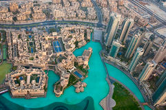 View of the city from the observation deck Burj Khalifa Royalty Free Stock Photography
