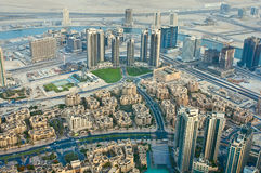 View of the city from the observation deck Burj Khalifa Stock Images