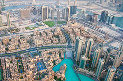 View of the city from the observation deck Burj Khalifa Royalty Free Stock Photos