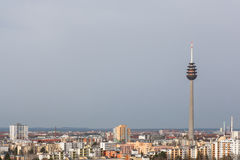 View of the city from the observation deck Royalty Free Stock Images