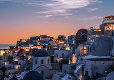 View of the city of Oia. Santorini Island in Greece Royalty Free Stock Photography