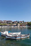 View of city Old Nessebar and sea Royalty Free Stock Photography