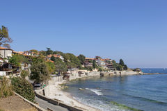 Bulgaria. View of city Old Nessebar and sea Royalty Free Stock Photography