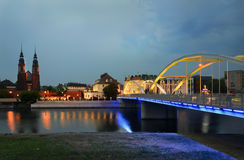 View of the city of Opole Royalty Free Stock Image