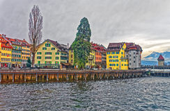 View on the city over the Reuss river Royalty Free Stock Image