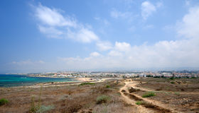 View on city of Paphos Stock Photo