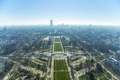 View on the city of Paris from Eiffel Tower Royalty Free Stock Photos