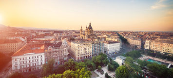 View on city park in Budapest Royalty Free Stock Images
