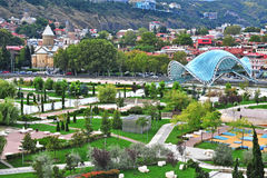 View of the city park in centre of Tbilisi Stock Photos