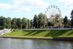View on city park of Tver Royalty Free Stock Photography