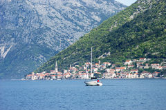 View of the city of Perast Stock Photography