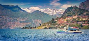 View of the city  Peschiera Maraglio, Stock Photos
