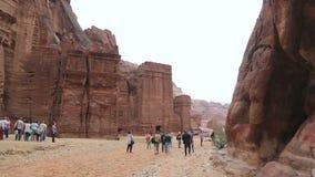View of the city of Petra in Jordan stock video