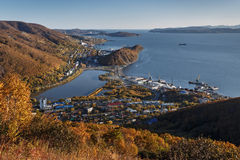 View of city Petropavlovsk-Kamchatsky. Kamchatka, Russia Royalty Free Stock Photography