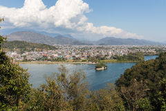 View of the city Pokhara Stock Photos