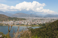 View of the city Pokhara Stock Photo