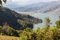 View of the city Pokhara Royalty Free Stock Image