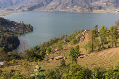 View of the city Pokhara Royalty Free Stock Photos