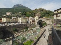 View of the city of Pont Saint Martin Royalty Free Stock Image