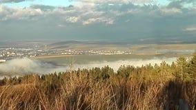 View of the city of Poprad Slovakia. stock video