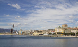 View at the city and port of Rijeka stock photography