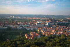 View of the city of Prague from a bird`s eye view. royalty free stock images