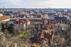 View on the city of Prague from castle hill Royalty Free Stock Photography