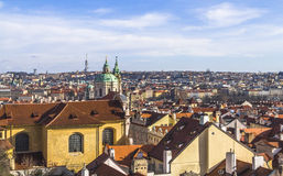 View on the city of Prague from castle hill Royalty Free Stock Images