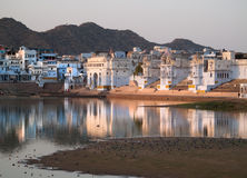 View of the City of Pushkar Royalty Free Stock Image