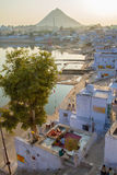 View of the City of Pushkar, India. Royalty Free Stock Images